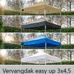 Grizzly-outdoor easy-up vervangdak 3x4,5 meter