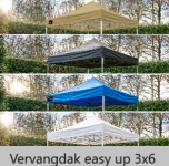Grizzly-outdoor easy up vervangdak 3x6 meter