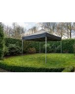 Easy Up vouwtent Grizzly Outdoor 4x4 m PVC Pro-50 Zwart