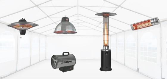Terrasverwarmers, heaters, hetelucht kanon, straalkachel, gasstraler
