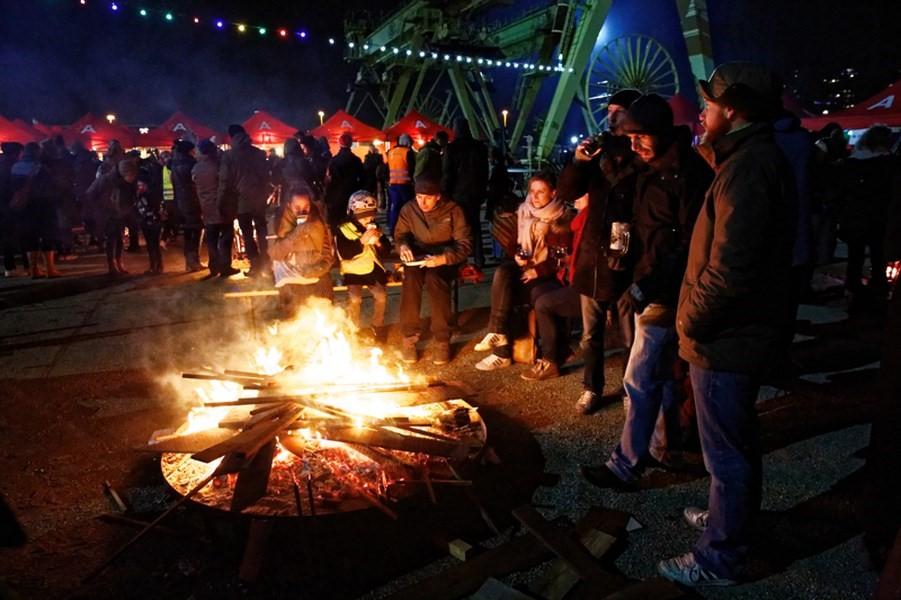 Vouwbare partytent in de winter